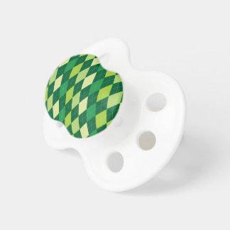緑のアーガイル柄のなパターン おしゃぶり