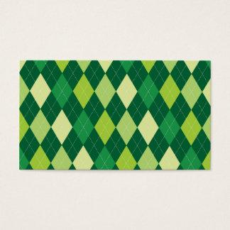 緑のアーガイル柄のなパターン 名刺