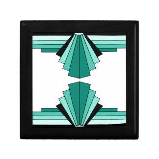 緑のアールデコパターン ギフトボックス