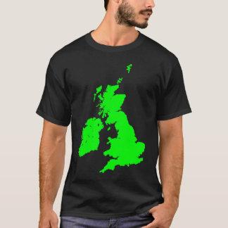 緑のイギリス諸島 Tシャツ