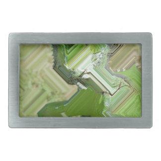 緑のイグアナ 長方形ベルトバックル