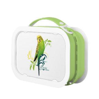 緑のインコ ランチボックス