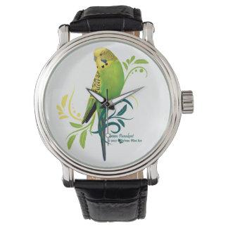 緑のインコ 腕時計