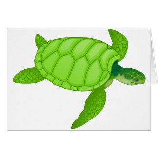 緑のウミガメのメッセージカード カード