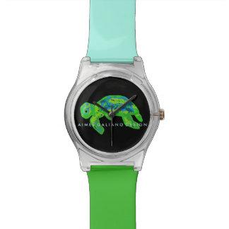 緑のウミガメの腕時計 腕時計