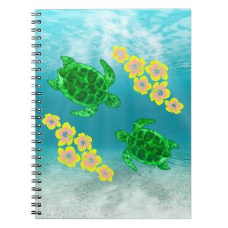 緑のウミガメ ノートブック