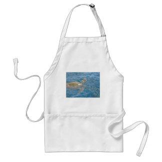 緑のウミガメ-ハワイHonu スタンダードエプロン