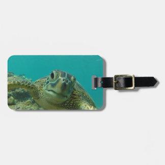 緑のウミガメ ラゲッジタグ