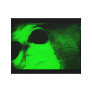 緑のエイリアン キャンバスプリント