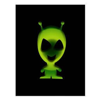 緑のエイリアン ポストカード