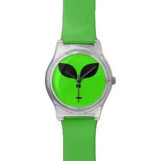緑のエイリアン 腕時計