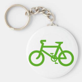 緑のエコの自転車 キーホルダー