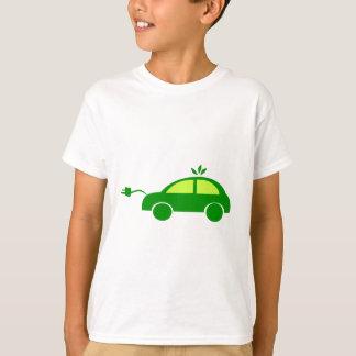 緑のエコの電気車生態学、環境 Tシャツ
