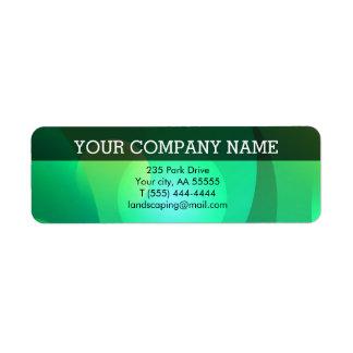 緑のエメラルドのイニシャルのプロフェッショナルビジネス 返信用宛名ラベル
