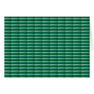 緑のエンボスのストライプなテンプレートは文字IMGのギフトを加えます カード