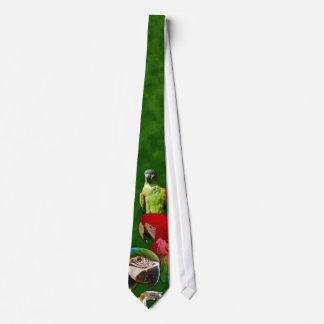 緑のオウムおよびコンゴウインコのタイ カスタムタイ