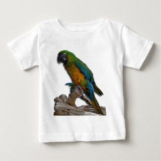 緑のオウムの幼児Tシャツだけ ベビーTシャツ
