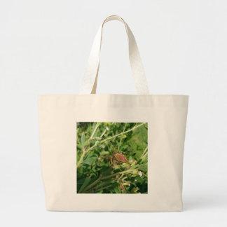 緑のオオヤマネコのくも ラージトートバッグ