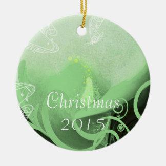 緑のオランダカイウユリのクリスマスのオーナメント セラミックオーナメント