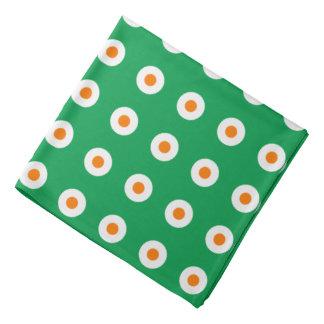 緑のオレンジか白い点 バンダナ