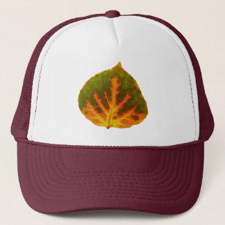 緑のオレンジ及び黄色の《植物》アスペンの葉#1 キャップ