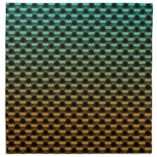 緑のオレンジ幾何学的な勾配 ナプキンクロス