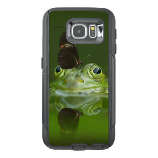 緑のカエルおよび蝶 オッターボックスSamsung GALAXY S6ケース
