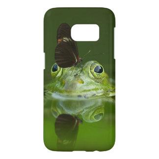 緑のカエルおよび蝶 SAMSUNG GALAXY S7 ケース