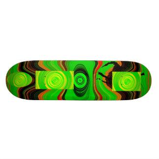 緑のカッコいい カスタムスケートボード