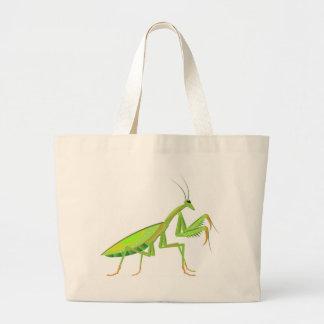 緑のカマキリのベクトル ラージトートバッグ