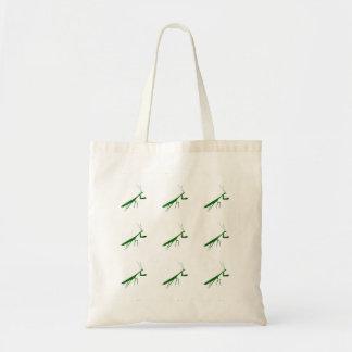 緑のカマキリ トートバッグ