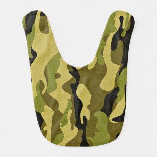 緑のカムフラージュの軍隊の質 ベビービブ