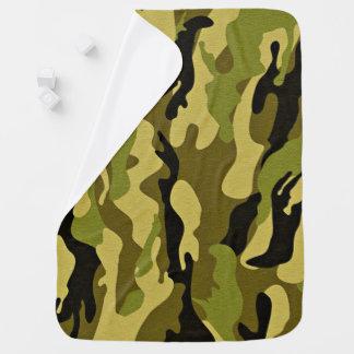 緑のカムフラージュの軍隊の質 ベビー ブランケット