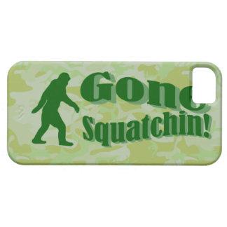 緑のカムフラージュのSquatchinの行った文字 iPhone SE/5/5s ケース