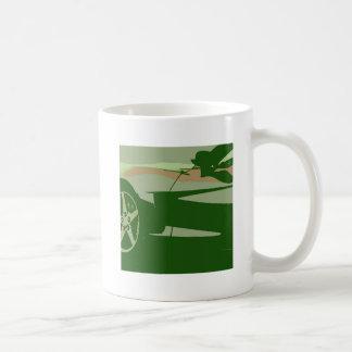緑のカムフラージュコルベット コーヒーマグカップ