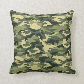 緑のカムフラージュパターン装飾用クッション クッション