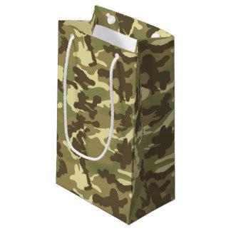 緑のカムフラージュパターン スモールペーパーバッグ
