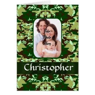 緑のカムフラージュ カード
