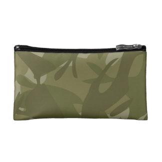 緑のカムフラージュ コスメティックバッグ