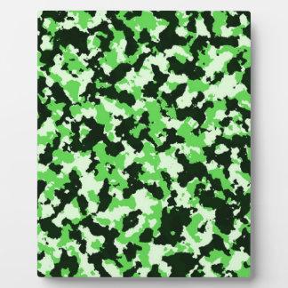 緑のカムフラージュ フォトプラーク