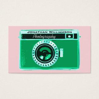 緑のカメラの写真撮影の名刺 名刺