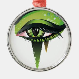緑のカーニバルの吸血鬼の目 メタルオーナメント