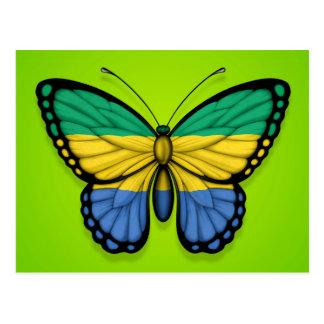 緑のガボンの蝶旗 ポストカード