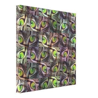 緑のキャッツ・アイの抽象美術、 キャンバスプリント