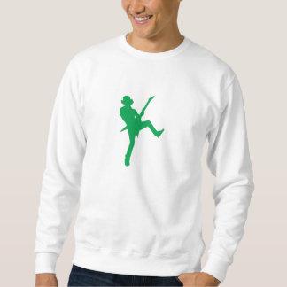 緑のギター奏者のシルエット スウェットシャツ