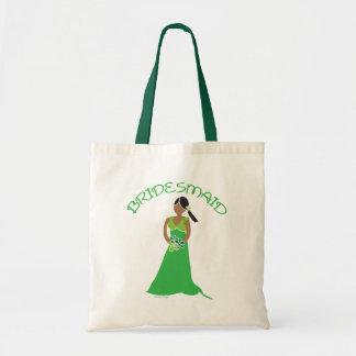 緑のギフトの民族の新婦付添人 トートバッグ