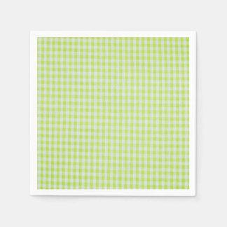 緑のギンガム スタンダードカクテルナプキン