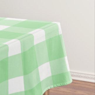 緑のギンガム テーブルクロス