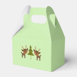 緑のクリスマスのトナカイのギフト用の箱 フェイバーボックス