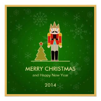 緑のクリスマス-くるみ割りの休日の挨拶 ポスター